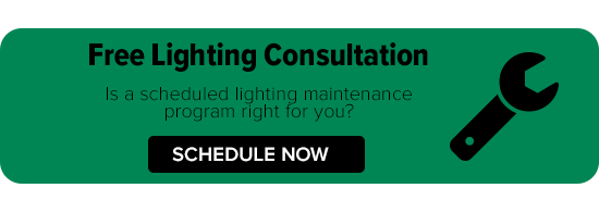 Scheduled lighting maintenance consultation