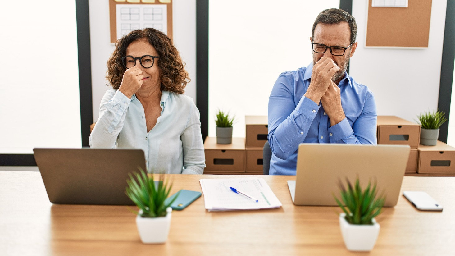 Eliminating odors in commercial buildings [A simple two-step process]